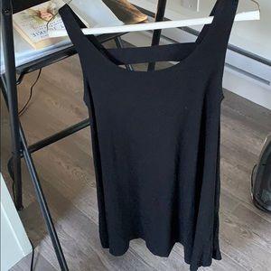 Garage tank top flowy dress w/cut outs on back